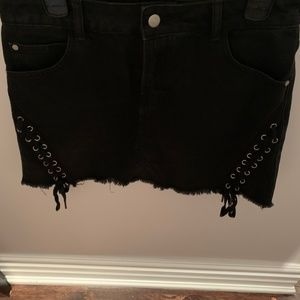 Black Skirt w/ Ties from Miami Boutique